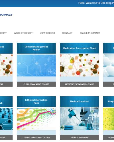 One Stop Pharmacy Website Development